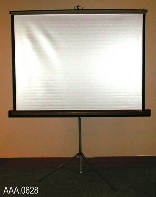 "This artifact is a portable movie screen.  The projection area is 50"" x 50""."