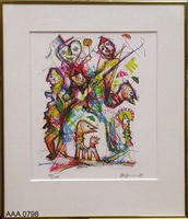Framed Art - Colored Numbered Print