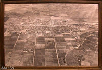 Framed Aerial Photograph - Wood/Paper