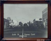 Framed B/W Photograph - Street Scene