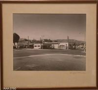 Framed B/W Photograph - Corona Street Corner