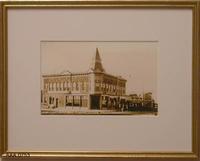 Framed Photograph - Bank Building