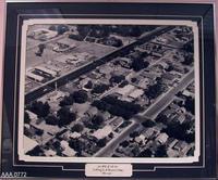 Framed B/W Photograph - Aerial