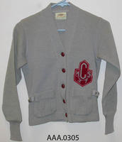 CHS Sweater Jacket - Knitt,  with five leather buttons
