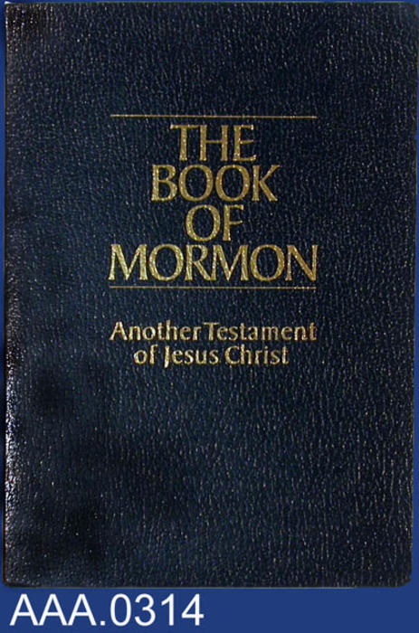 "This artifact is a copy of the ""Book of Mormon."""