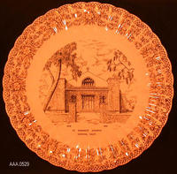 Plate - China plate with gold trim
