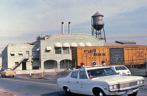 This color slide was taken east of the Sunkist Plant on Joy Street in 1984.  SLIDE CONDITION:  Good.