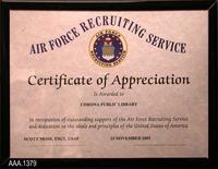 Framed Certificate - Plastic/Paper