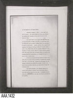 Framed Copy of a Document - Page 1 of 3  - Wood/Glass/Paper