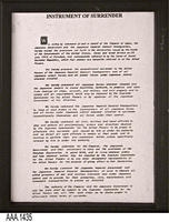 Framed Copy of a Document - Page 1 of 2  - Plastic/Glass/Paper
