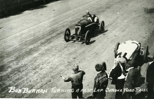 Bob Burman turning a fast lap - Corona Road Race, New