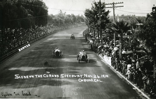 Scene on the Corona Speedway, New