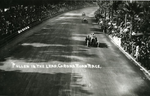 Eddie Pullen in the lead - Corona Road Race, New