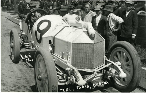 Teel in Tanis #9 car - Corona Road Race, New