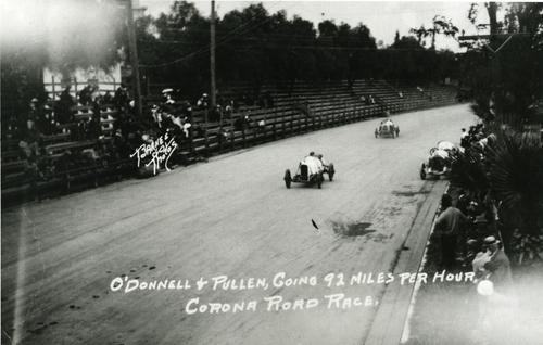 O'Donnell & Pullen going 92MPH - Corona Road Race, New