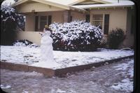 Snowman at 724 W. Eleventh Street