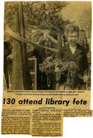 Clipping: 130 Attend Library Fete