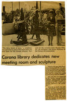 Clipping: Library Dedicates New Meeting Room and Scupture
