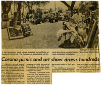Clipping: Corona Picnic and Art Show Draws Hundreds