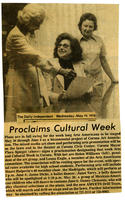 Clipping: Proclaims Cultural Week