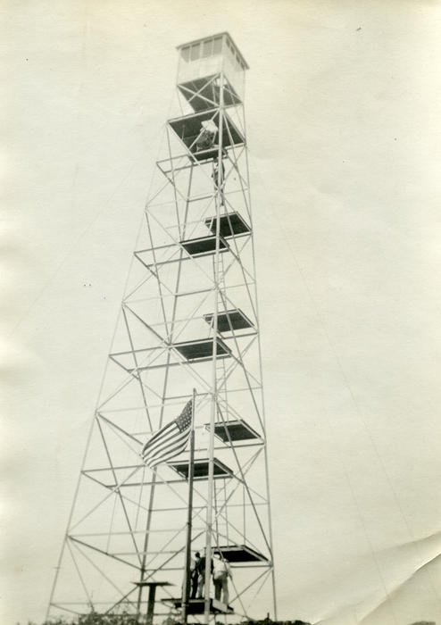 Observation tower – WWII. Corona residents volunteered to use tower to watch for enemy planes during the war.