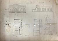 Plan voor het bouwen vau een Schoolgebouw en het vergrooten der Onderwijzerswoning...