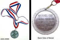 2001 Mayor's Cup, Corona/ Riverside Games Medal - Metal/Ribbon