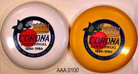 1986 Corona Centennial Frisbees - Plastic