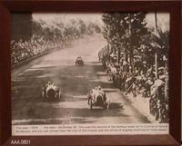 1914 Corona Road Racing Framed B/W Photograph