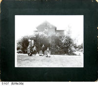 Photo - c. 1900 - Jameson Family in Front of Home