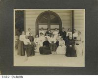 Photo - c. 1900 - Baptist Church - Twenty women on steps