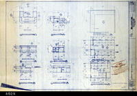 Blueprint - 1992 - Millcraft, Inc. - Furniture Placement - Elevation and Plan...                 View Room 303 and Storage Room 302