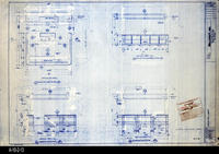 Blueprint - 1992 - Millcraft, Inc. - Furniture Placement - Elevation and                 Information Desk, Room 246
