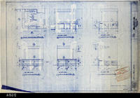 Blueprint - 1992 - Millcraft, Inc. - Furniture Placement - Elevation and                 Information Desk, Room 245