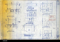 Blueprint - 1992 - Millcraft, Inc. - Furn. Placement - Elev. and Plan Views...                 Rooms: 203, 225 and 252