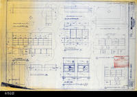 Blueprint - 1992 - Millcraft, Inc. - Furn. Placement - Elev. and Plan Views...                 Rooms: 227, 230, 249 and 301