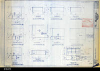 Blueprint - 1992 - Millcraft, Inc. - Furniture Placement - Elev. and Plan Views...                 for Rooms: 223, 235, 236 238, and 239
