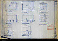 Blueprint - 1992 - Millcraft, Inc. - Furniture Placement - Elev. and Plan Views...                 for Rooms: 240 and 241