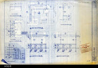 Blueprint - 1992 - Millcraft, Inc. - Furn. Placement - Canopy Corner Detail,...                 Elev. and Plan Views for Rms: 256 and 252
