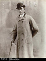 Photo - c. 1880 - Young Gentleman Standing Wearing a Bowler Hat