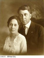 Photo - c. 1920's - Young Man and Woman (Possibly a Wedding Photograph)