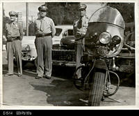 Photo - c. 1945 - Police Department Chief, Capt. and Lt.