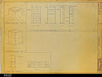 Blueprint - Divider Detail, Display Case, and Enclosure and Storage Detail -...