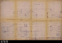 Blueprint - 1967 - Inker Unit Assembly - Sheet 1/2