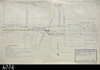Blueprint - 1966 - Proposed Relocation of Track No. 4 to Serve Orange Heights...                 Orange Association.