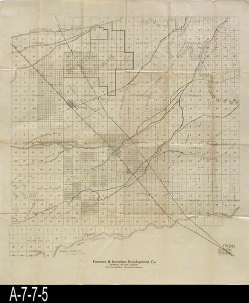 Blueprint undated platt map of central california the name of blueprint undated platt map of central california the name of farmers and investors development co los angeles malvernweather