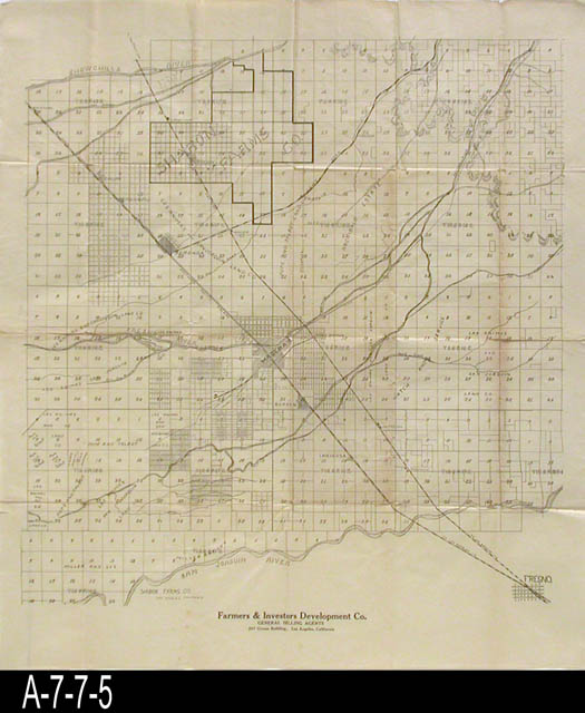 Blueprint undated platt map of central california the name of blueprint undated platt map of central california the name of farmers and investors development co los angeles malvernweather Image collections