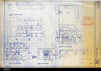 Blueprint - 1992 - Millcraft, Inc. - Furniture Placement - Elev. and Plan Views...