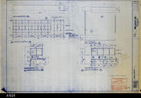 Blueprint - 1992 - Millcraft, Inc. - Furniture Placement - Elevation and Plan...