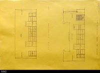 Blueprint - Heritage Room South Elevation and Section and North Elevation